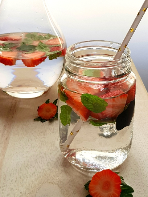 Strawberry and Mint detox water