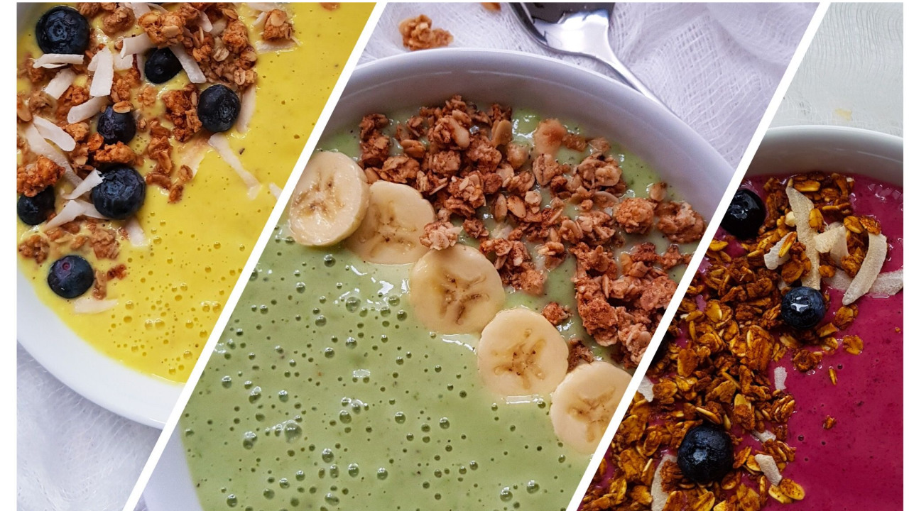 3 HEALTHY SMOOTHIE BOWLS