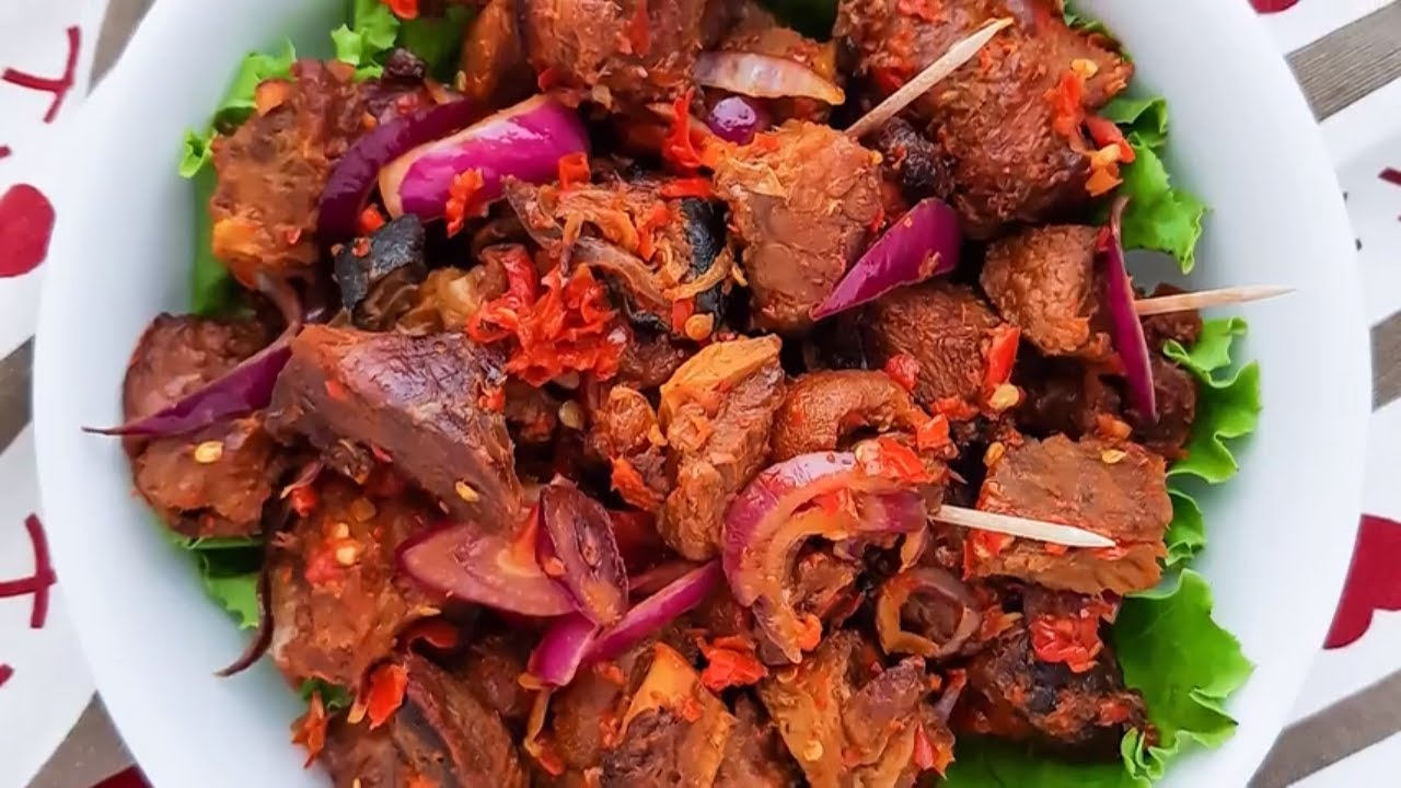 Asun (Spicy Goat meat)