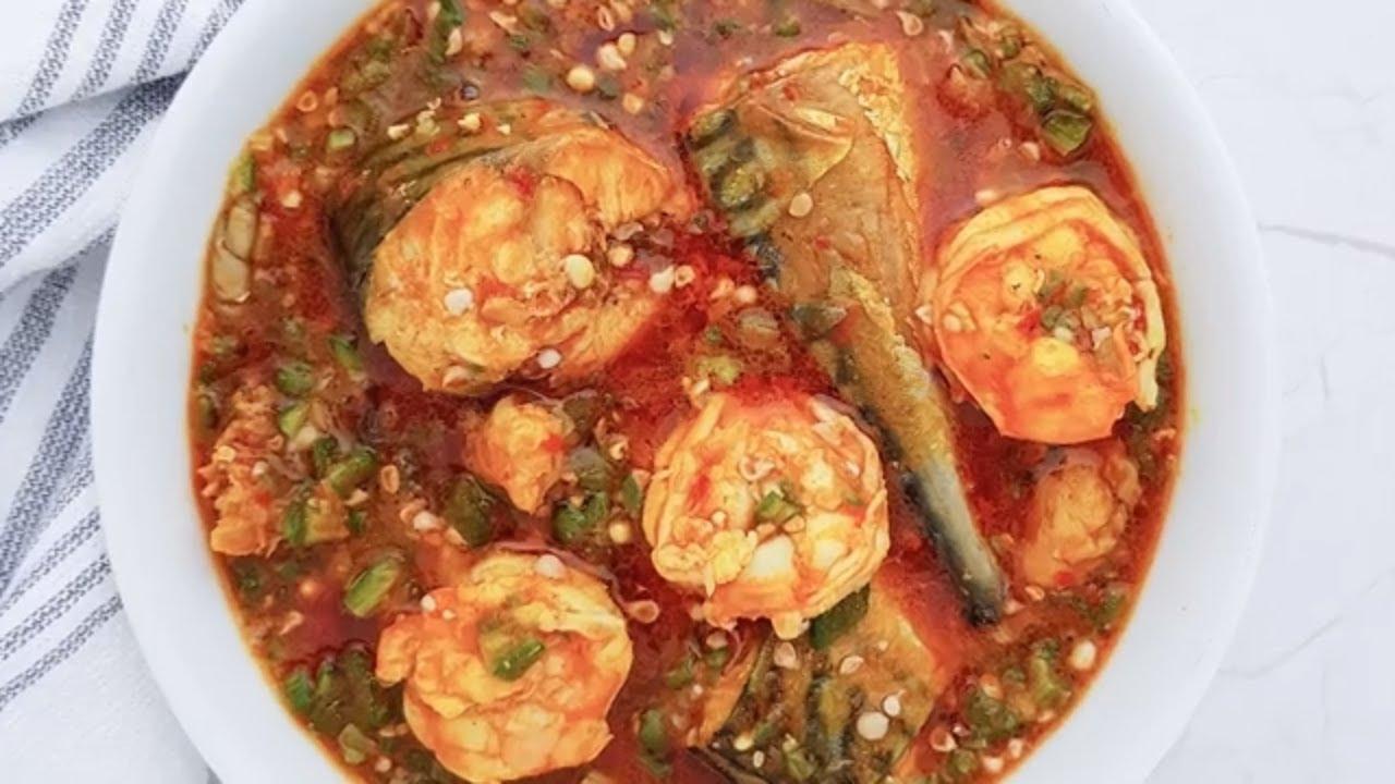 Seafood Okro Soup