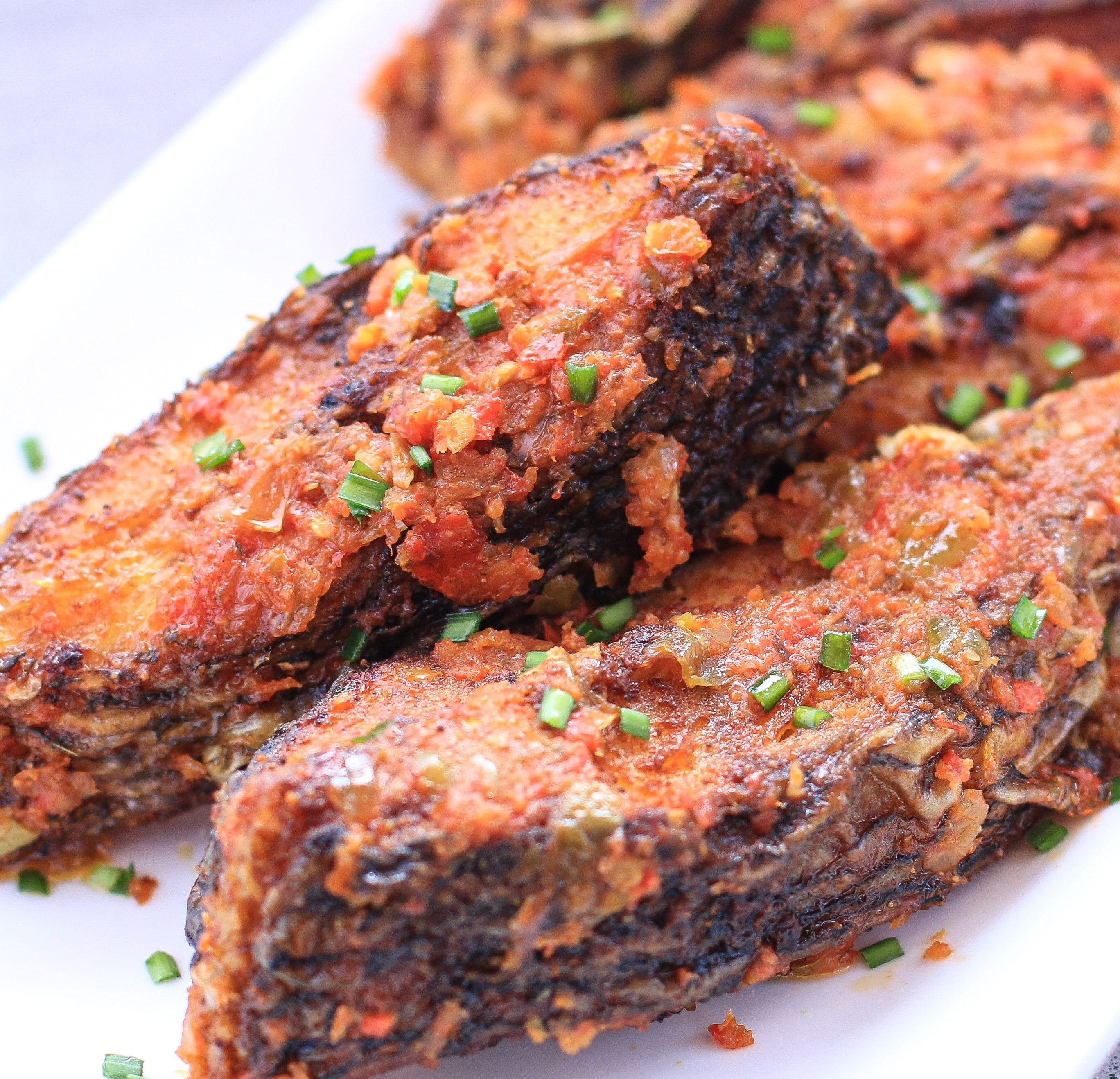Peppered Fish Steaks