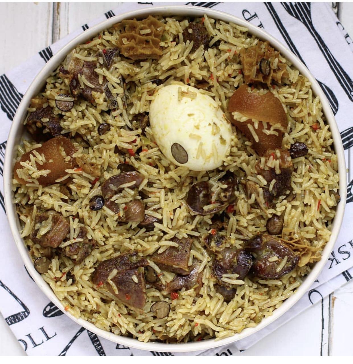Ayamase Jollof Rice