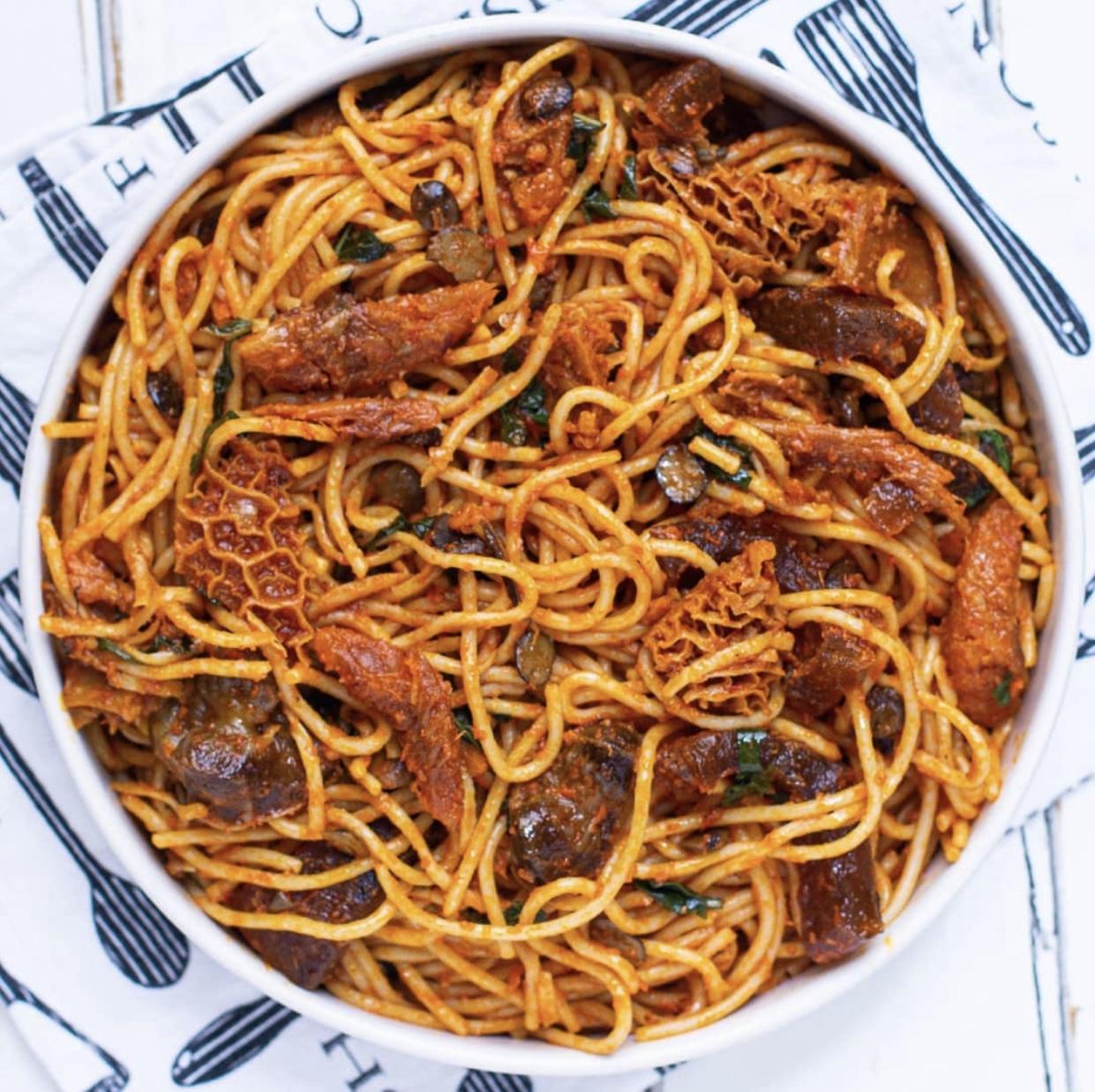 Native Jollof Spaghetti