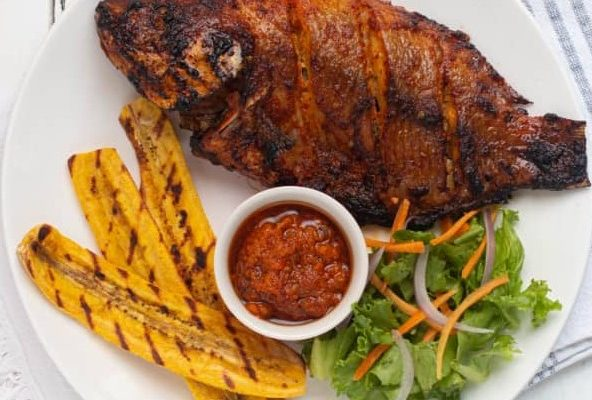 Grilled Tilapia Fish & Plantain (Perfect Oven Grilled Fish)