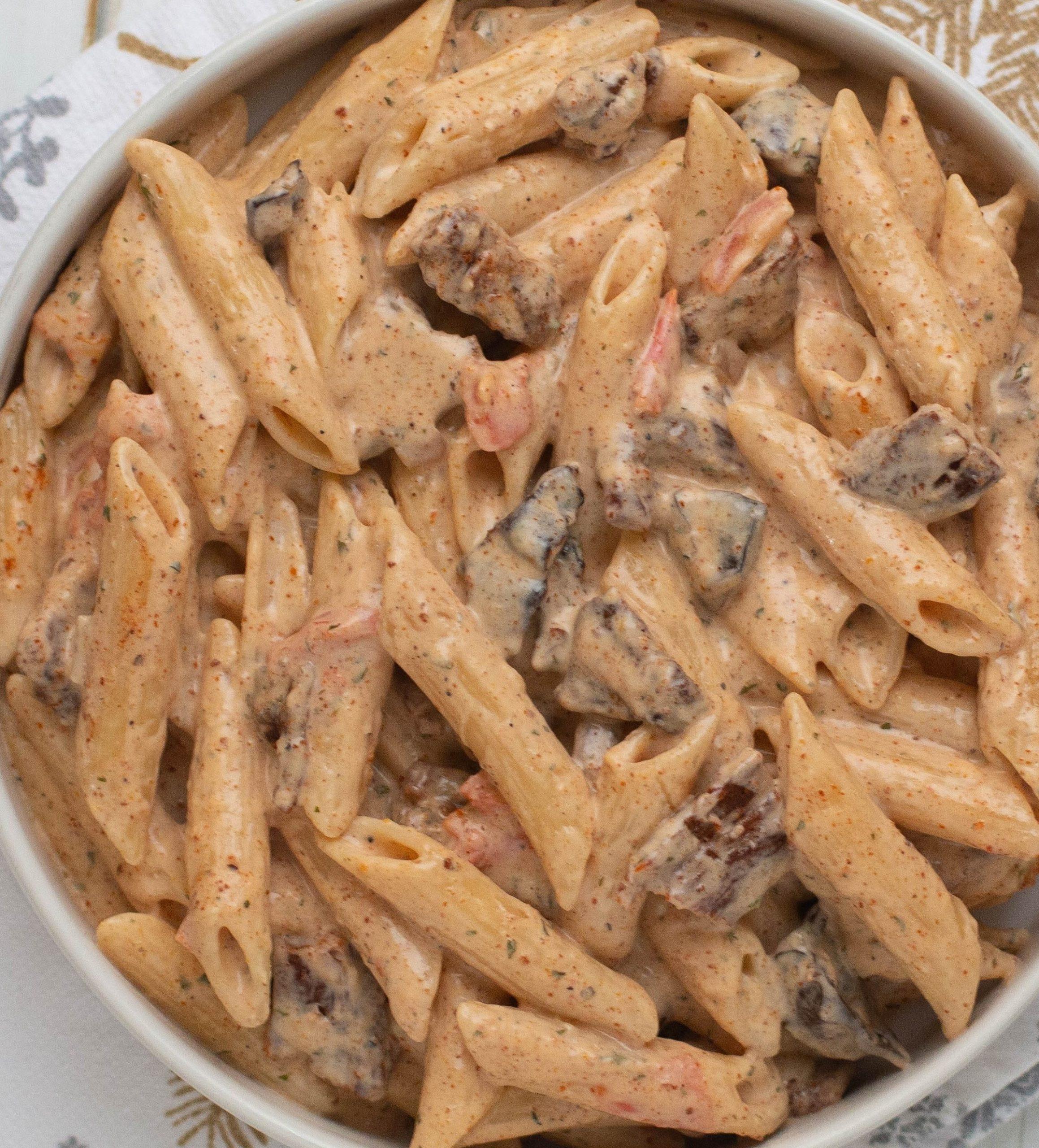Beef Suya Alfredo (Creamy Pasta)